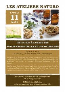 Atelier d'initiation aux huiles essentielles et hydrolats